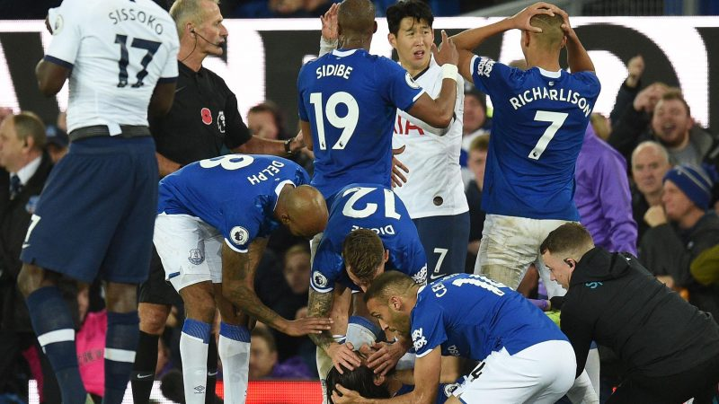 Andre Gomes surgery went 'extremely well', say Everton following severe ankle injury