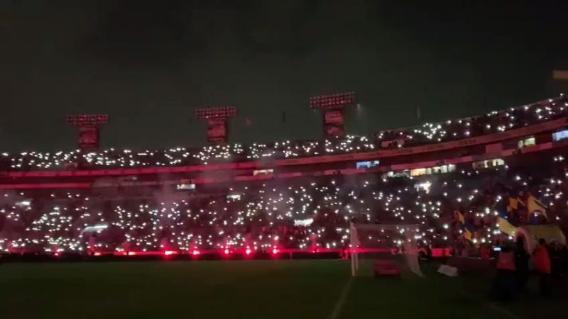 It was an electric atmosphere at Estadio Universitario as 41,615 fans attended the first leg of the Mexican women's league(Liga MX Femenil) final between Tigres Femenil and Rayadas de Monterrey : WomensSoccer