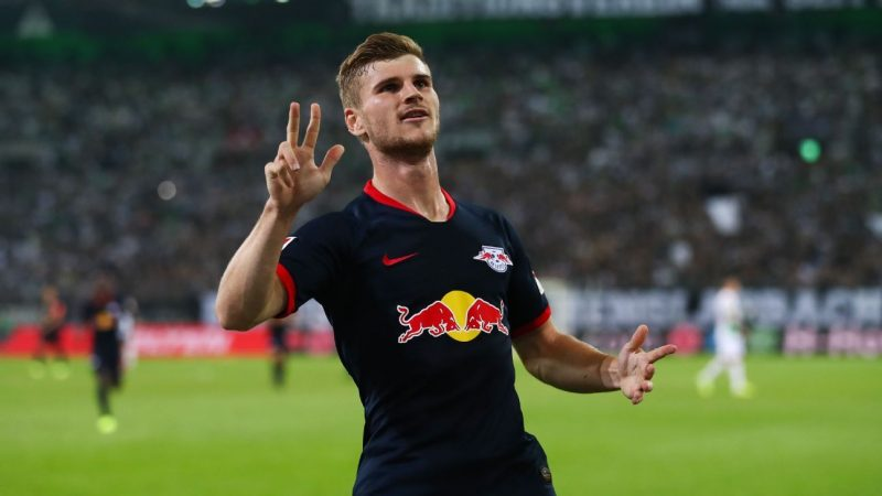 Chelsea scout Timo Werner, Moussa Dembele in Champions League