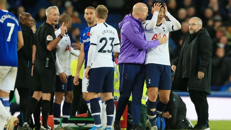 Tottenham's Heung-min Son has red card for tackle on Andres Gomes overturned