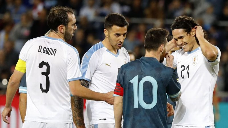 Cavani says heated row with Messi during Uruguay-Argentina friendly 'part of football'