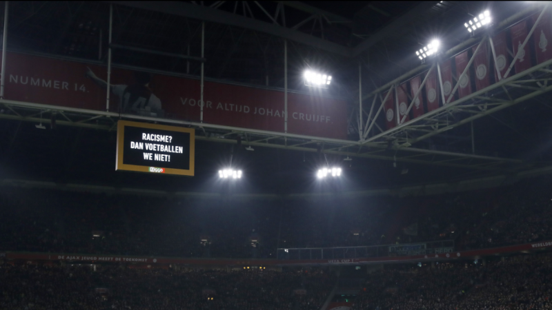 Ajax and clubs across Netherlands stop for 60 seconds after kick-off in anti-racism protest