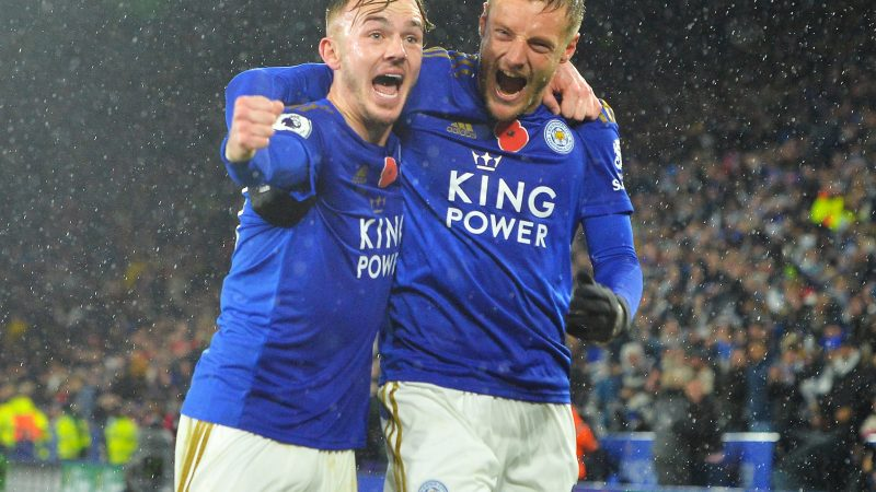 Leicester beat Arsenal to go second as Vardy and Maddison strike