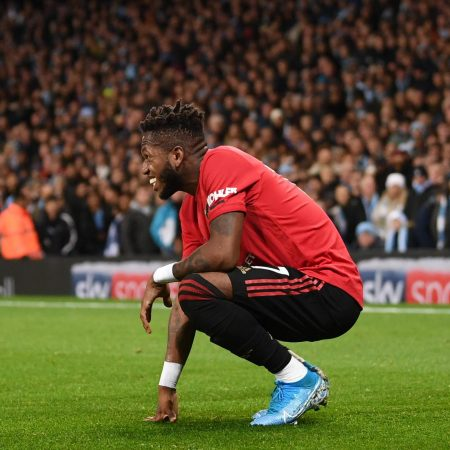 Manchester United midfielder Fred reacts to alleged racial abuse from City fan