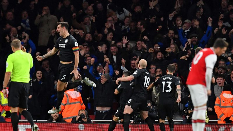 Arsenal's disgruntled fan base working against team, says Brighton defender Lewis Dunk