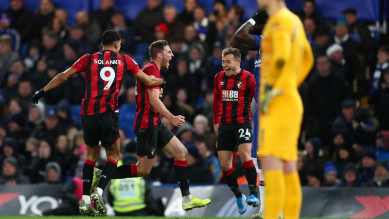 Chelsea 0-1 Bournemouth: Dan Gosling scores late goal to secure vital result