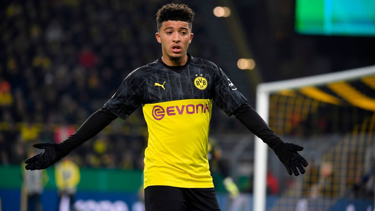 Manchester United pull ahead in chase for Dortmund's Jadon Sancho