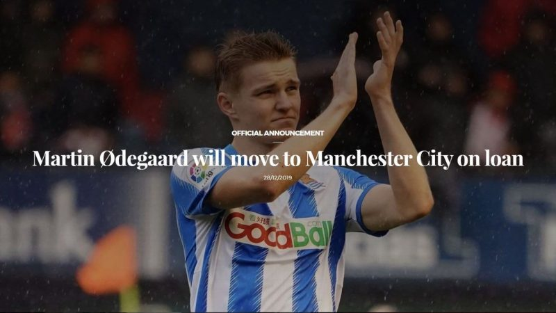 Martin Odegaard loan to Manchester City 'announced' by Real Sociedad, but all is not as it seems
