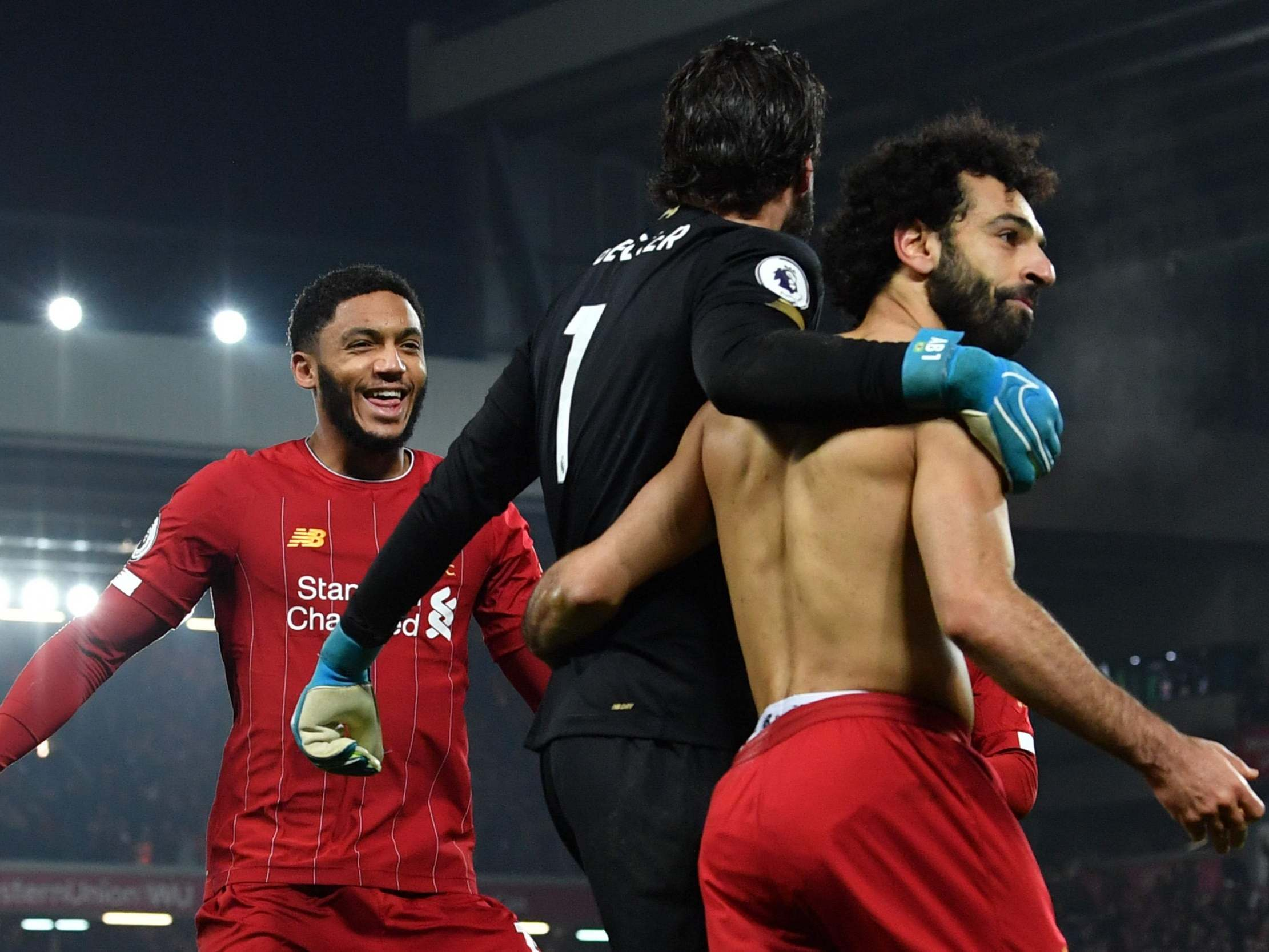 Henderson and Salah keep focus on next game as Liverpool title talk increases