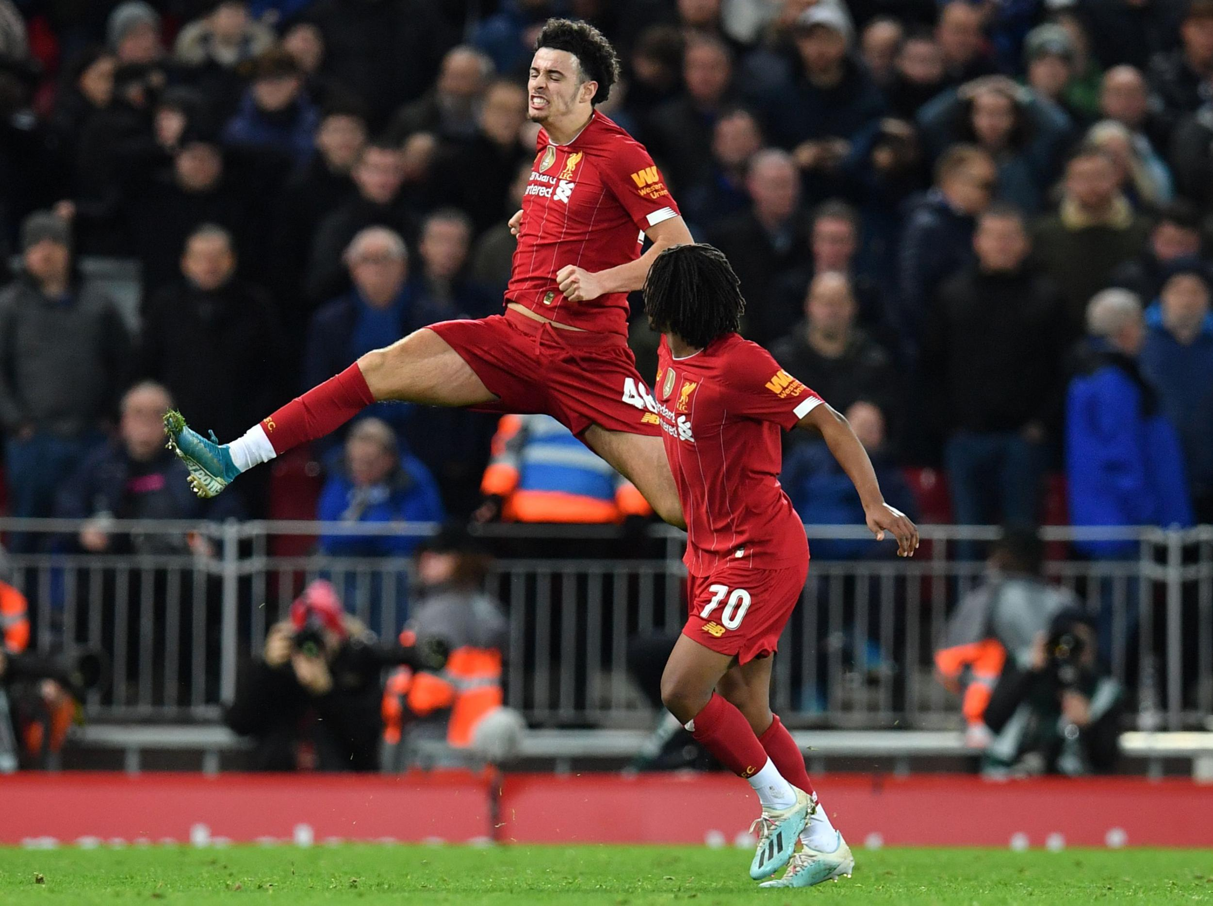 Curtis Jones goal sees Liverpool beat Everton in FA Cup third round