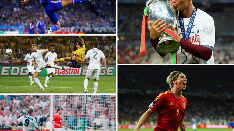 European Championship top scorers: Rooney, Ronaldo, Griezmann, Platini and the other leading goalscorers