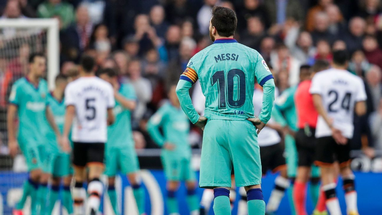 Lionel Messi looks fed up at Barcelona How can the team and their superstar turn this around?