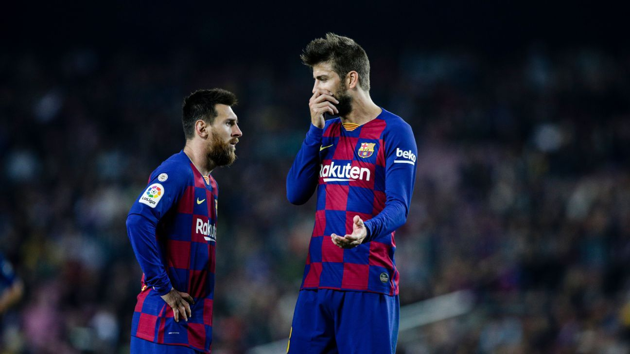 Messi, Pique have tense meeting with Barcelona chief after social media row