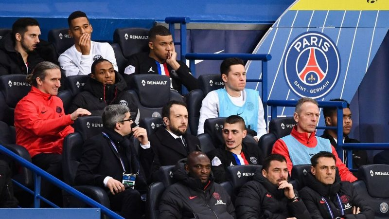 PSG's Kylian Mbappe scolded by Thomas Tuchel after substitution tiff