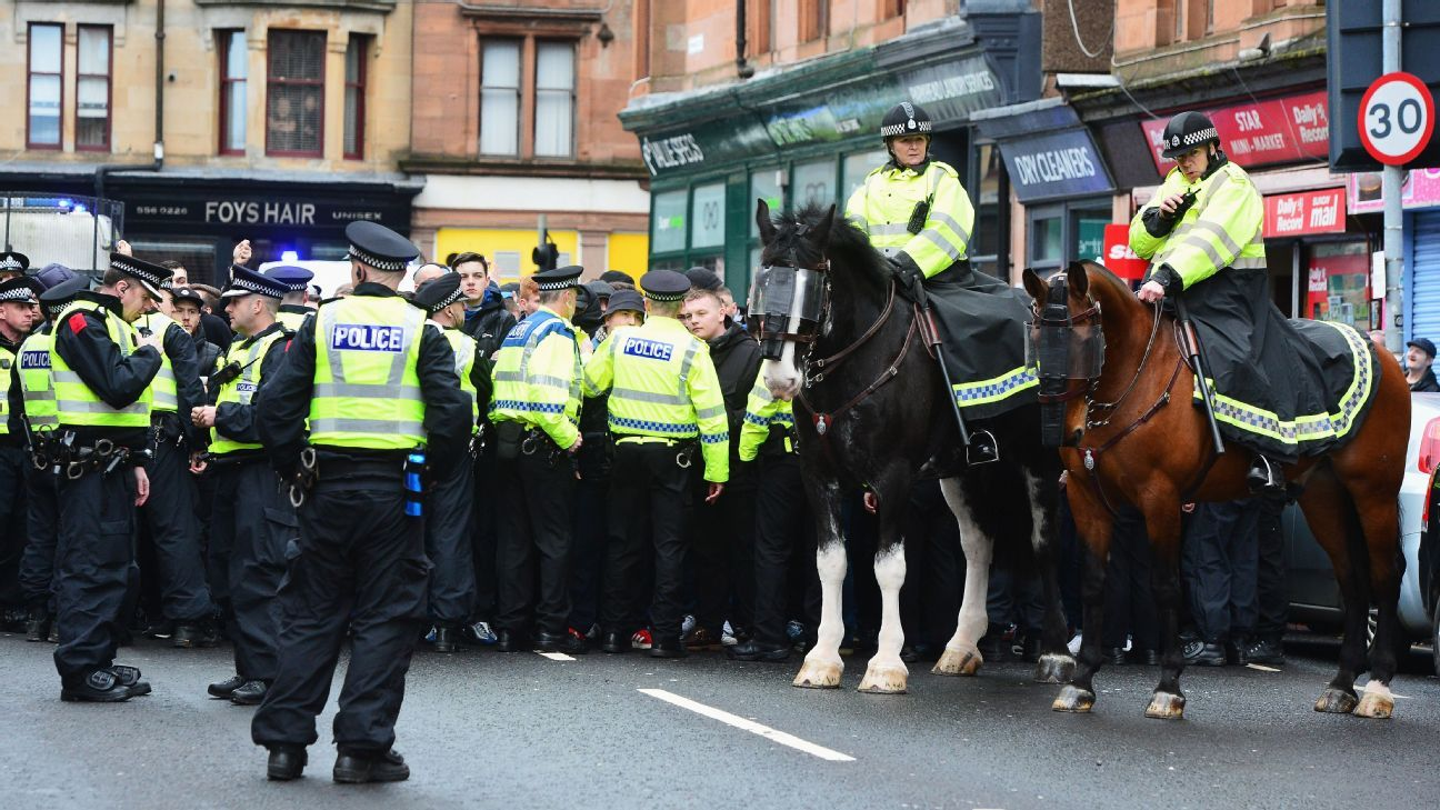 Celtic supporter jailed for 10 months after punching three police horses