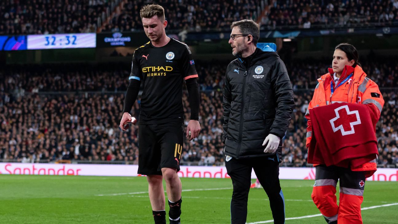 Man City blow as Laporte to miss Real Madrid and United clashes