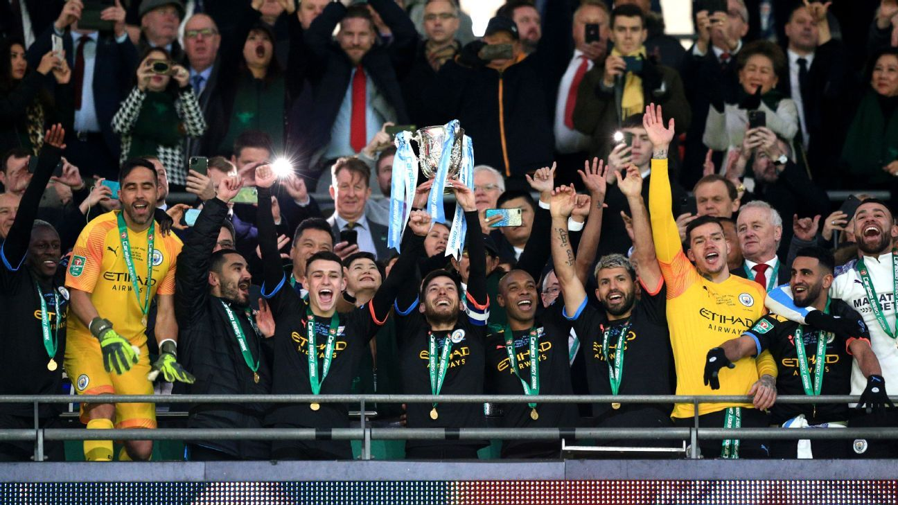 Man City win third straight Carabao Cup but age, defensive cracks hint at an end of an era