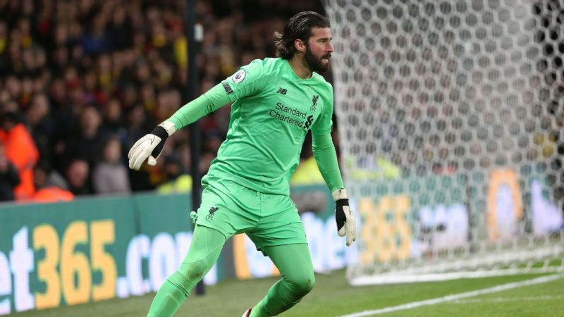 Liverpool goalkeeper Alisson injured ahead of Champions League clash with Atletico