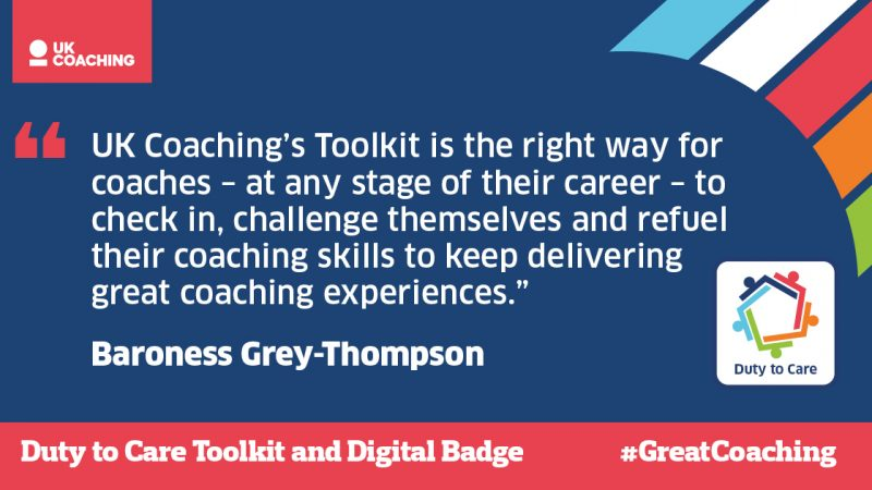 UK Coaching cares: New toolkit and digital badge to facilitate #GreatCoaching