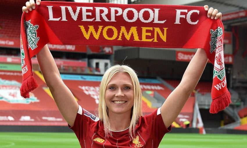 Liverpool FC Women have completed the signing of 25-year-old Denmark international striker Amalie Thestrup : WomensSoccer