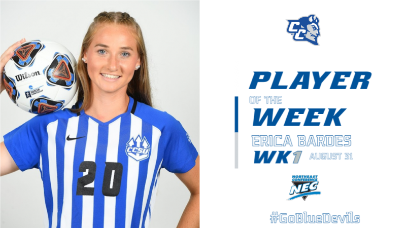 Erica Bardes Wins NEC Player of the Week